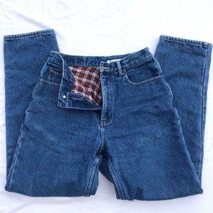 Eddie Bauer Flannel Lined Blue Jeans